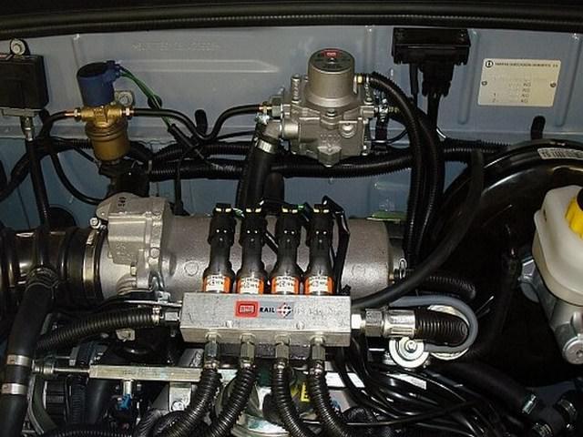 Комплектация газобаллонной системы, установленной в машину