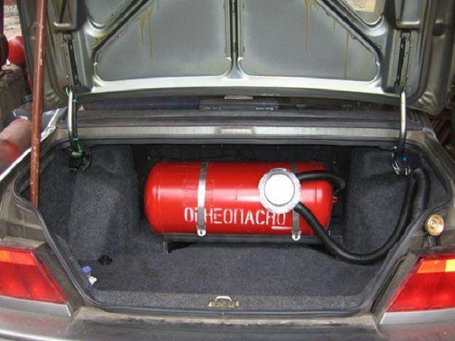 Переоборудование машины газ