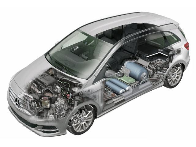 Автомобиль, оборудованный газовой установкой
