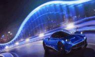 Автомобиль синего цвета